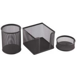 Ensemble de bureau mesh métallique-3 pièces