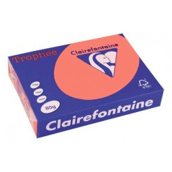 Rame Clairefontaine Saumon A4 80 gr - 500 feuilles