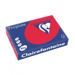Rame Clairefontaine Rouge A4 80 gr - 500 feuilles