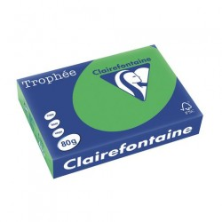 Rame Clairefontaine Vert Sapin A4 80 gr - 500 feuilles