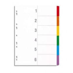 Intercalaire De Séparation 6 Positions A4 Coloré- OfficePlast