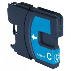 Cartouche Adaptable Brother LC980-Cyan