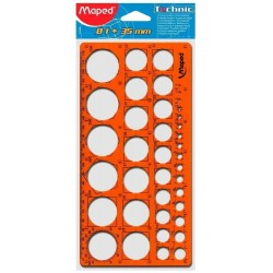 Trace-cercles Maped pairs et impairs de 1 à 35 mm - 39 cercles