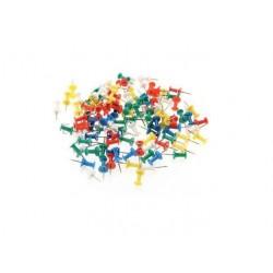 50 Punaises En Métal Plastique Pour Tableau