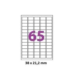 ETIQUETTES ADHESIVES TOpre7633TICK 38,1 x 21,2 MM 100 FEUILLES BLANC