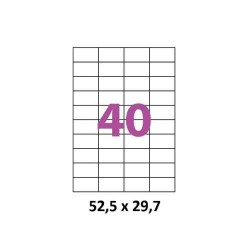 ETIQUETTES ADHESIVES TOpre7633TICK 52,5 x 29,7 MM A4 100 FEUILLES BLANC