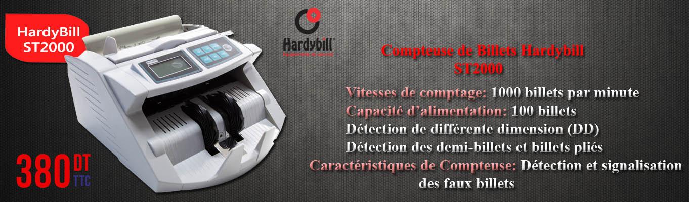 Cliquez Ici pour découvrir les caractéristiques de la Compteuse de Billets Hardybill ST2000!
