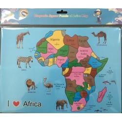 PUZZLE MAGNETIQUE 54 PIECES CARTE AFRIQUE
