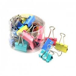 Attaches-clips Couleur 60 Piéces 15 mm
