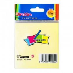 Stick Note 76/76 Pastel 100 Feuilles Jaune