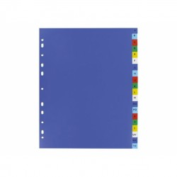 Intercalaire De Séparation Alphabétique A4 Coloré-Plastique