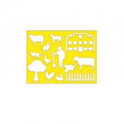 Modéle de Dessin et Peinture--Fermes / Agriculture