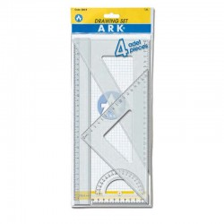 Pochette Géometrique 30cm- 4 Piéces Ark 526-4