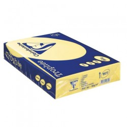 Rame Clairefontaine Jaune pastel A4 80 gr - 500 feuilles