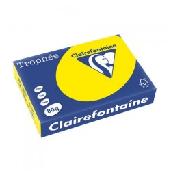 Rame Clairefontaine Jaune Soleil A4 80 gr - 500 feuilles