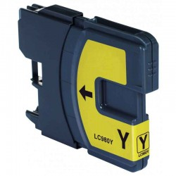 Cartouche Adaptable Brother LC980-Jaune