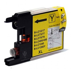 Cartouche Adaptable BROTHER LC1280 Jaune
