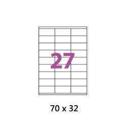 ETIQUETTES ADHESIVES TOpre7633TICK 70 x 32 MM A4 100 FEUILLES BLANC
