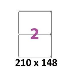 ETIQUETTES ADHESIVES TOPSTICK 210 x 148 MM 100 FEUILLES BLANC