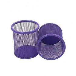 Pot à Stylo Rond Maille 802 Métal Violet