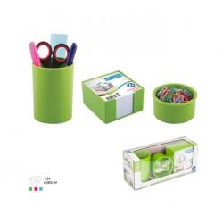 Ensemble de bureau Plastique -3 pièces Vert