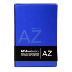Porte carte de visite APLI à anneaux - 60 cartes - Bleu