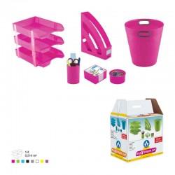 Ensemble de bureau Plastique -8 pièces Ark Rose
