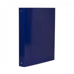 Classeur 4 anneaux Carton Unilaqué - Dos 4 - Bleu