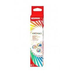 Boite de 6 crayons de couleur Kores