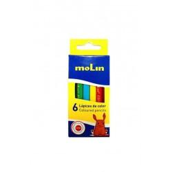 Boite de 6 crayons de couleur Molin