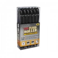 Paquet de 12 Rollers Mondialus - Noir