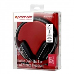 Casque Foldable Over-The-Ear Wired Stereo Headset Noir