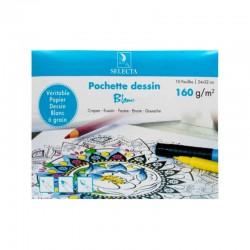 Pochette Dessin canson couleur vive 24*32 Selecta