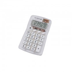 Calculatrice de Poche OLYMPIA LCD825-Transparent