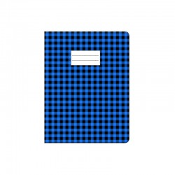 Protège cahier Carreau - 17 x 22 cm - Bleu