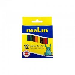 Boite de 12 crayons de couleur Molin