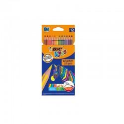 Crayons de couleur Bic Kids - 12 crayons