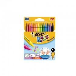 12 crayons de couleur Pastel Bic