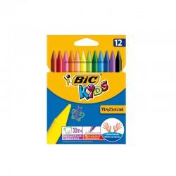 Boite de 12 crayons de couleur à cire BIC Kids