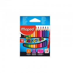 12 crayons de couleur Mini Color'Peps- Maped