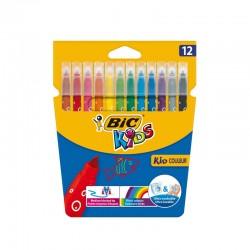 Etui de 12 Feutres coloriage pointe moyenne - Bic Kids