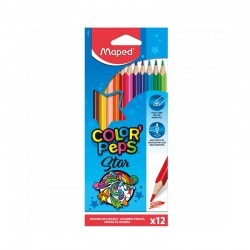 12 crayons de couleur Color'Peps- Maped