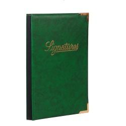 Parapheur signature administratif couverture en simili cuir