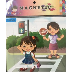 PUZZLE MAGNETIQUE 12PIECES S-6001