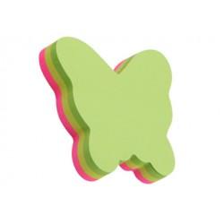 Stick Note Papillon Fluo 100 Feuilles