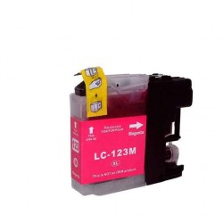 Cartouche Adaptable Brother LC123-Magenta