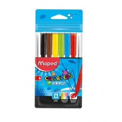 Paquet 6 Stylos feutre Maped Colorpeps