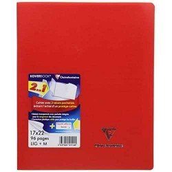 Cahier Clairefontaine avec 2 rabats Koverbook– Rouge