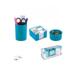 Ensemble de bureau Plastique -3 pièces Bleu ciel