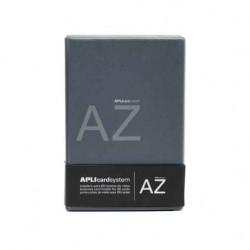 Porte carte de visite APLI à anneaux - 60 cartes - Noir